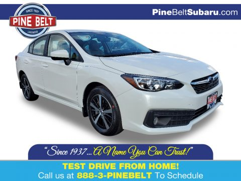 Crystal White Pearl Subaru Impreza Premium Sedan.  Click to enlarge.