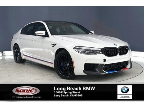 Alpine White BMW M5 Sedan.  Click to enlarge.