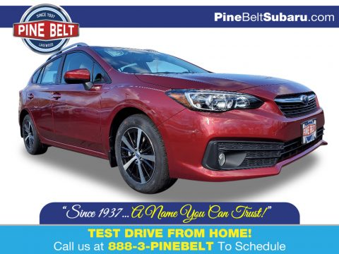 Crimson Red Pearl Subaru Impreza Premium 5-Door.  Click to enlarge.