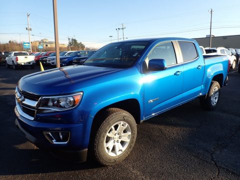 Kinetic Blue Metallic Chevrolet Colorado LT Crew Cab 4x4.  Click to enlarge.