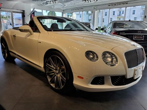 Arctica White Bentley Continental GTC Speed.  Click to enlarge.