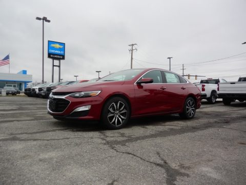 Cajun Red Tintcoat Chevrolet Malibu RS.  Click to enlarge.