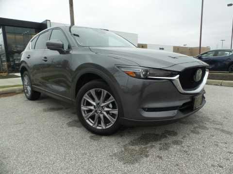 Machine Gray Metallic Mazda CX-5 Grand Touring AWD.  Click to enlarge.