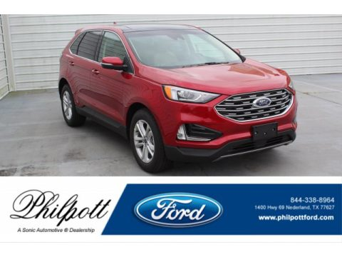 Rapid Red Metallic Ford Edge SEL.  Click to enlarge.