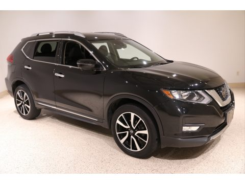 Magnetic Black Nissan Rogue SL AWD.  Click to enlarge.