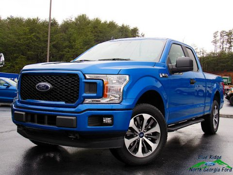 Velocity Blue Ford F150 STX SuperCab 4x4.  Click to enlarge.