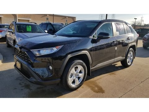 Midnight Black Metallic Toyota RAV4 XLE AWD.  Click to enlarge.