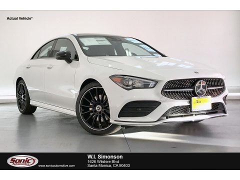 Digital White Metallic Mercedes-Benz CLA 250 Coupe.  Click to enlarge.