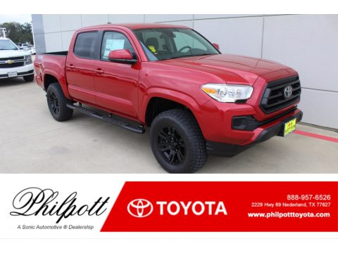 Barcelona Red Metallic Toyota Tacoma SR Double Cab 4x4.  Click to enlarge.