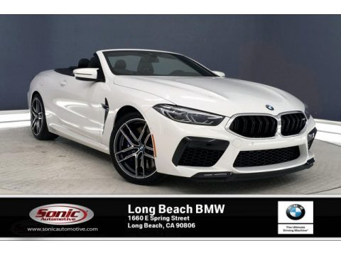 Alpine White BMW M8 Convertible.  Click to enlarge.