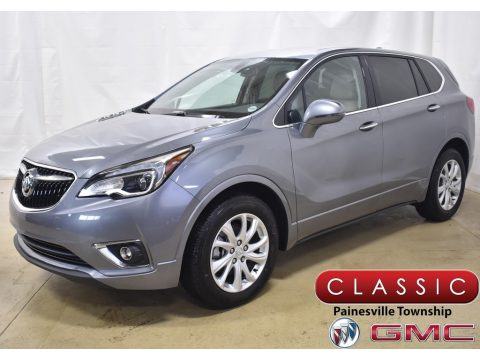 Satin Steel Metallic Buick Envision Preferred AWD.  Click to enlarge.