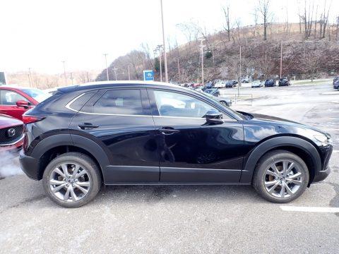 Jet Black Mica Mazda CX-30 Premium AWD.  Click to enlarge.