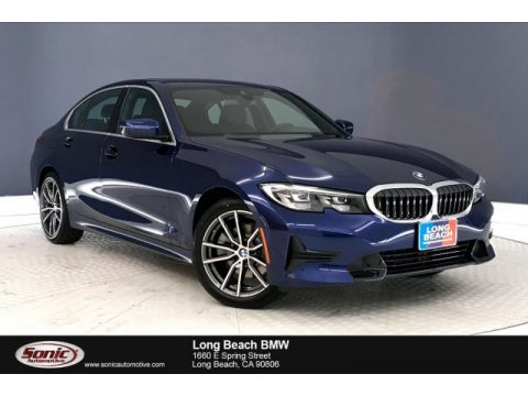 Mediterranean Blue Metallic BMW 3 Series 330i Sedan.  Click to enlarge.