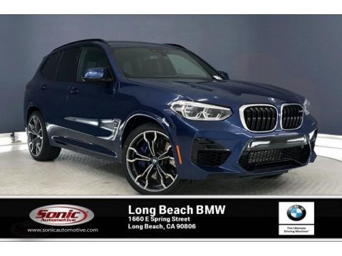 Phytonic Blue Metallic BMW X3 M Competition.  Click to enlarge.
