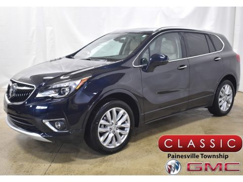 Dark Moon Blue Metallic Buick Envision Premium AWD.  Click to enlarge.