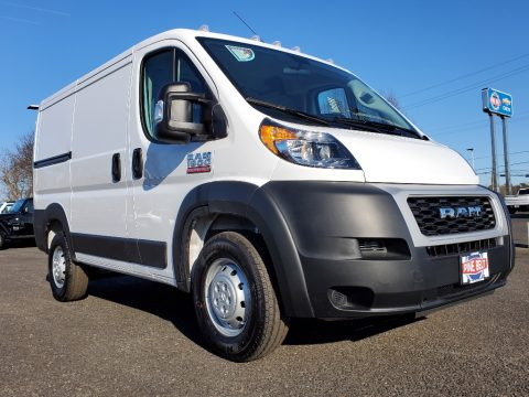 Bright White Ram ProMaster 1500 Low Roof Cargo Van.  Click to enlarge.