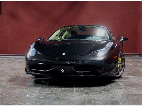 Nero Daytona (Black Metallic) Ferrari 458 Spider.  Click to enlarge.