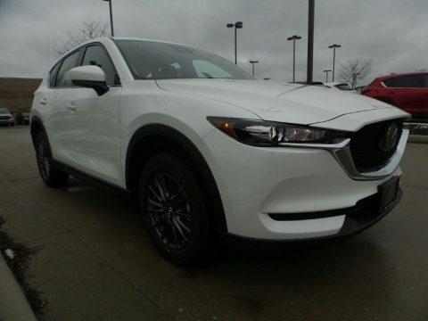 Snowflake White Pearl Mazda CX-5 Sport AWD.  Click to enlarge.