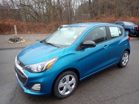 Caribbean Blue Metallic Chevrolet Spark LS.  Click to enlarge.