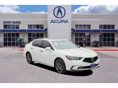 Platinum White Pearl Acura RLX Sport Hybrid SH-AWD.  Click to enlarge.