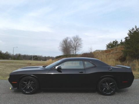 Pitch Black Dodge Challenger R/T.  Click to enlarge.