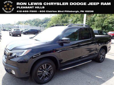 Crystal Black Pearl Honda Ridgeline Black Edition AWD.  Click to enlarge.