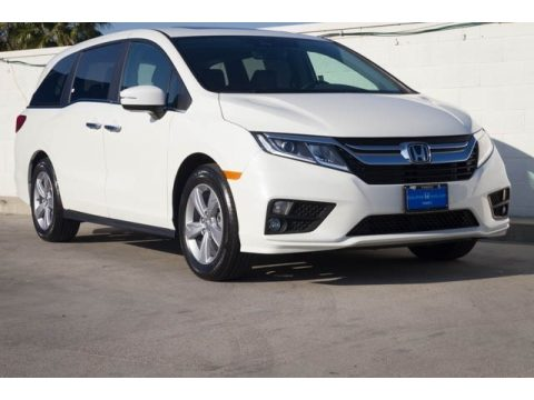 Platinum White Pearl Honda Odyssey EX-L.  Click to enlarge.