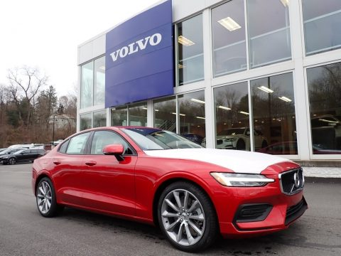 Fusion Red Metallic Volvo S60 T6 AWD Momentum.  Click to enlarge.