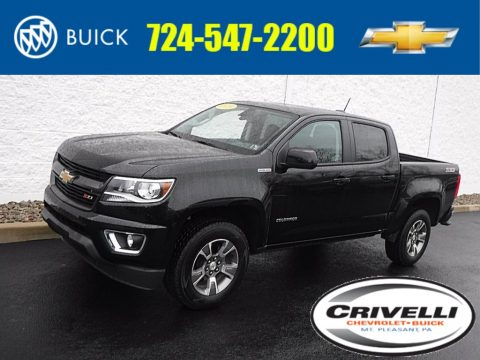 Black Chevrolet Colorado Z71 Crew Cab 4x4.  Click to enlarge.