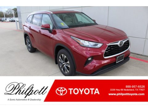 Ruby Flare Pearl Toyota Highlander XLE.  Click to enlarge.