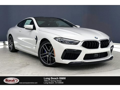 Alpine White BMW M8 Coupe.  Click to enlarge.