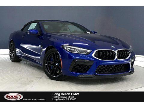 Marina Bay Blue Metallic BMW M8 Convertible.  Click to enlarge.