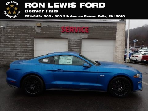 Velocity Blue Ford Mustang GT Premium Fastback.  Click to enlarge.