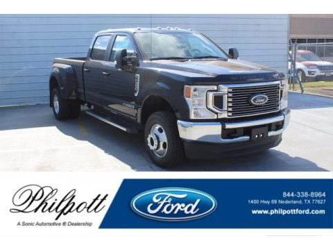 Agate Black Ford F350 Super Duty XLT Crew Cab 4x4.  Click to enlarge.
