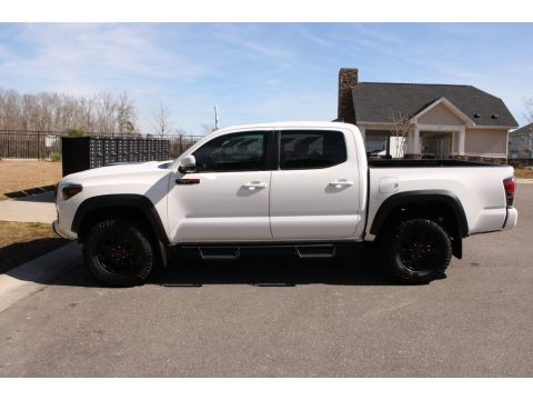Super White Toyota Tacoma TRD Pro Double Cab 4x4.  Click to enlarge.