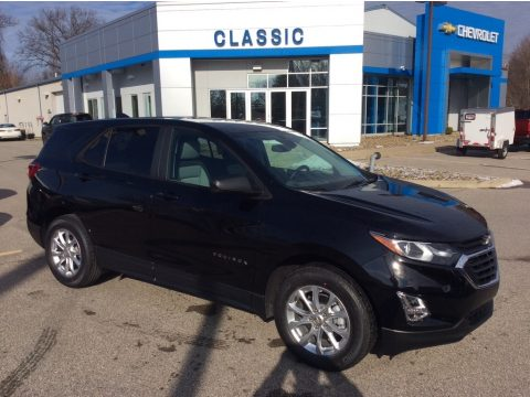 Mosaic Black Metallic Chevrolet Equinox LS.  Click to enlarge.