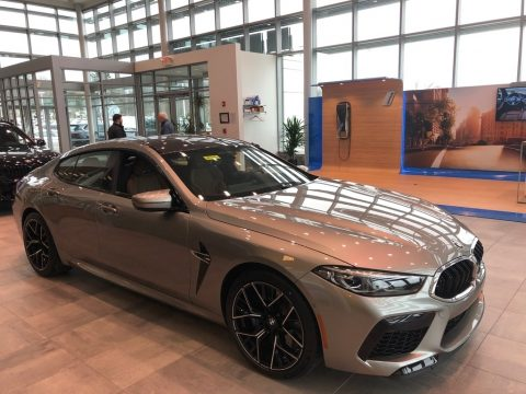 Donington Grey Metallic BMW M8 Gran Coupe.  Click to enlarge.