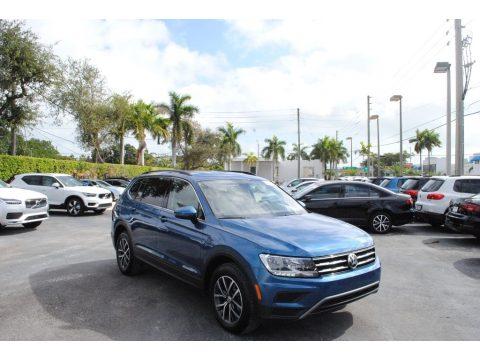 Blue Silk Metallic Volkswagen Tiguan SE.  Click to enlarge.