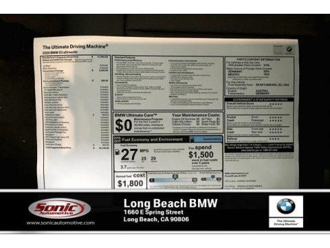 Jet Black BMW X3 sDrive30i.  Click to enlarge.