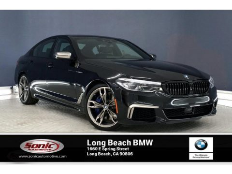 Black Sapphire Metallic BMW 5 Series M550i xDrive Sedan.  Click to enlarge.