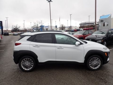 Chalk White Hyundai Kona SEL AWD.  Click to enlarge.