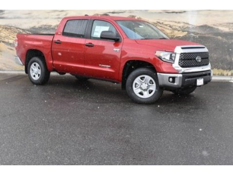 Barcelona Red Metallic Toyota Tundra SR5 CrewMax 4x4.  Click to enlarge.