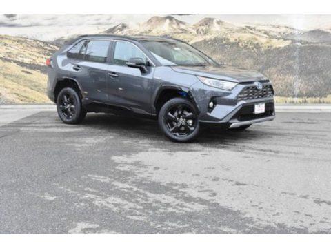 Magnetic Gray Metallic Toyota RAV4 XSE AWD Hybrid.  Click to enlarge.