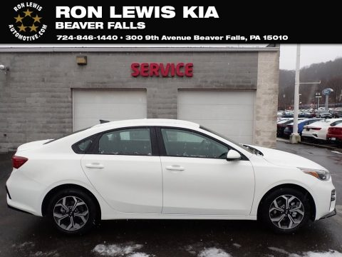 Clear White Kia Forte LXS.  Click to enlarge.