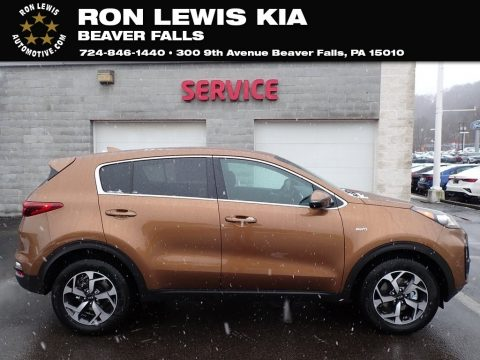 Burnished Copper Kia Sportage LX AWD.  Click to enlarge.