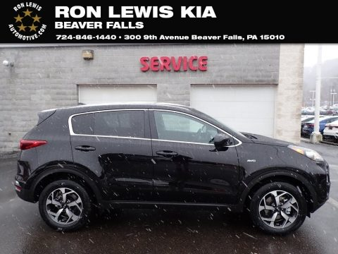 Black Cherry Kia Sportage LX AWD.  Click to enlarge.