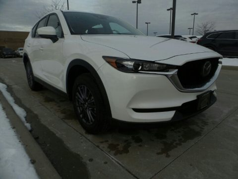 Snowflake White Pearl Mazda CX-5 Sport.  Click to enlarge.