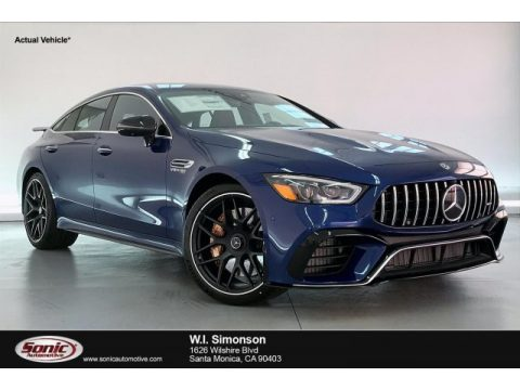 Brilliant Blue Metallic Mercedes-Benz AMG GT 63 S.  Click to enlarge.