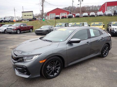 Polished Metal Metallic Honda Civic EX Hatchback.  Click to enlarge.