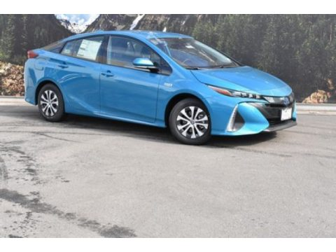 Blue Magnetism Toyota Prius Prime LE.  Click to enlarge.
